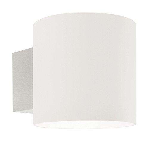 Oligo Lichttechnik Project Wandleuchte Halterung Aluminium gebürstet/Leuchtenkopf Glas satiniert weiß