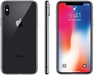 【SIMロック解除済】 Apple iPhoneX 64GB スペースグレイ MQAX2J/A docomo