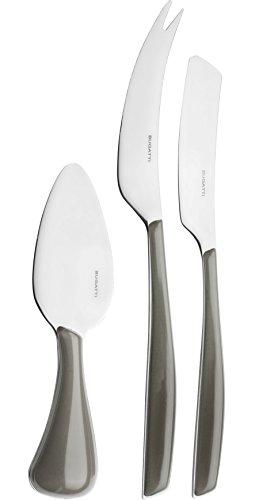 BUGATTI Set 3 coltelli da Formaggio Glamour Argento