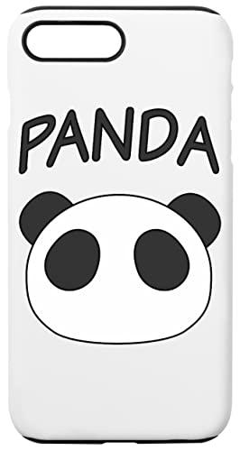 Konata Panda Caja del Teléfono para iPhone 7 Plus, iPhone 8 Plus Concha Dura con Capa De Silicona en el Interior Phone Case