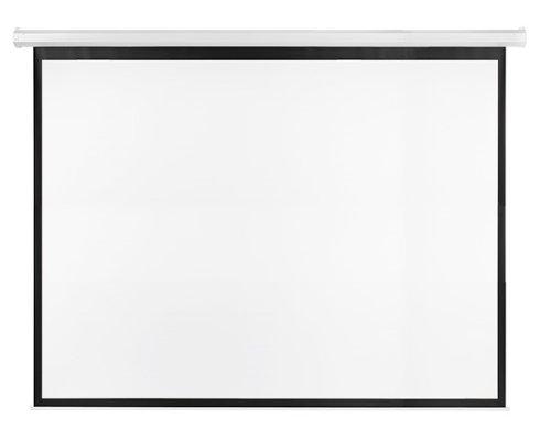 Franken LWE23022 Rolloleinwand elektrisch X-tra beschichtetes Gewebetuch, 300 x 225 cm