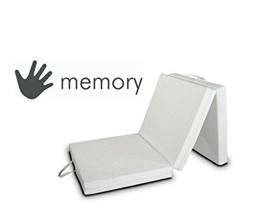 EvergreenWeb Colchón Futón Memory, Cama colchón futón con Salvaspazio Memory, colchón, colchón Plegable