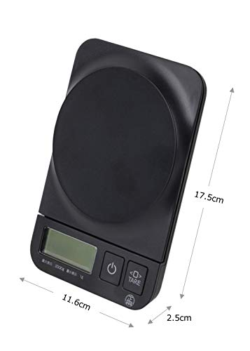 【BLKP】パール金属キッチンスケール限定マットブラックデジタル計り2.0kg/1g計量用BLKP黒D-5159