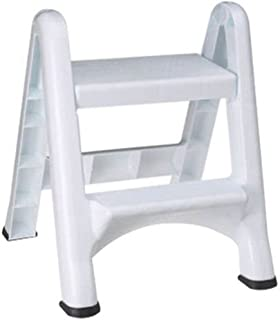 Rubbermaid Commercial Products Two-Step Folding Stepstool, White (300-Pound Load Capacity, 22-7/8-Inches x 21