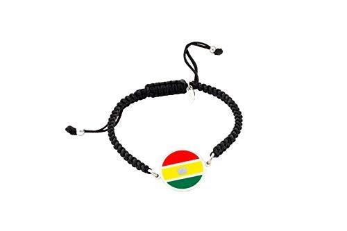 Bolivia Flag Bracelet | Women's Bracelet and Men's Bracelet | Personalised Bracelet | Original Gift | Bolivia Flag | I am staying at home Personalised