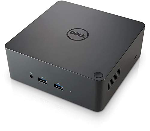 Dell TB16 Thunderbolt 3 (USB-C) Docking Station with 180W Adapter, Black, Model:452-BCNP