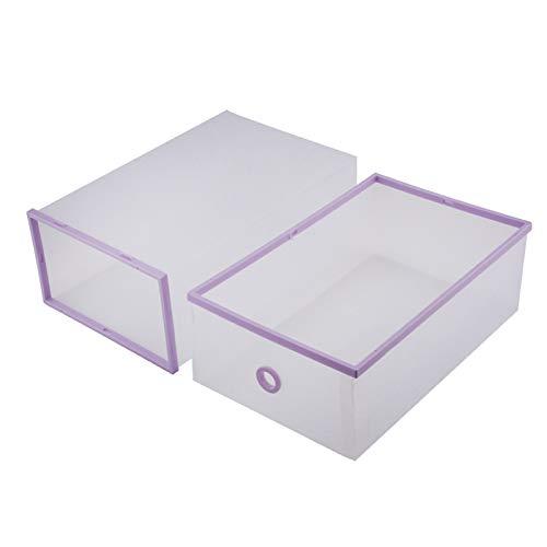 Cajas de almacenamiento de zapatos livianas, contenedores de almacenamiento de plástico plegable de 5 piezas, para revistas, zapatos, libros