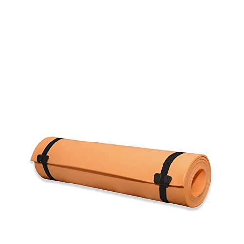 Virsus Tappetino Camping misura 180 x 50 cm Stuoia da Campeggio tappeto sport palestra fitness yoga antiscivolo colore arancione