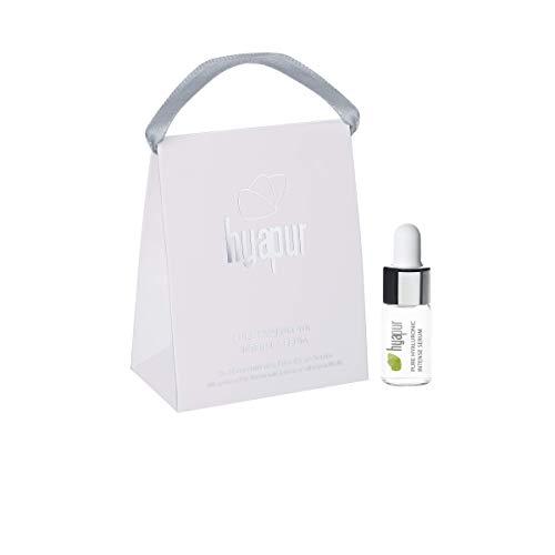hyapur® - Hyaluron Serum PUR 3,5ml - Reinstes Hyaluronsäure Gesichts Serum mit Silber - zur Anti-Aging-Pflege mit Bio- Vegan- Natur- Kosmetik aus Berlin