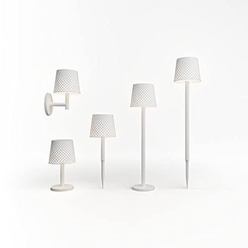 Greta - Lámpara de mesa, lámpara de pie, lámpara de pie o pinchaza de exterior con luz solar LED, color blanco