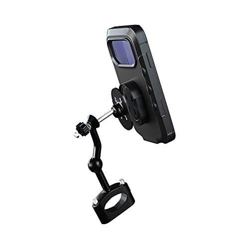 Niktule - Supporto impermeabile per bicicletta, supporto per telefono per moto, universale, per bicicletta, manubrio e bicicletta, con rotazione a 360°, GPS