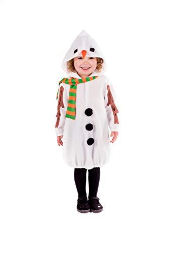 Fun Shack Blanco Muñeco De Nieve Disfraz para Niños y Niñas - S