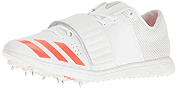 adidas Women s Adizero tj/pv Track Shoe White/Infrared/Metallic/Silver 14