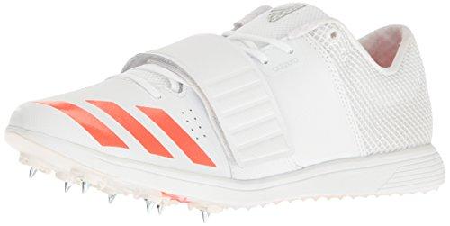 adidas Adizero TJ/PV Zapatillas de correr con pinchos, Blanco (blanco/Infrarojo/metálico/plateado), 46 EU
