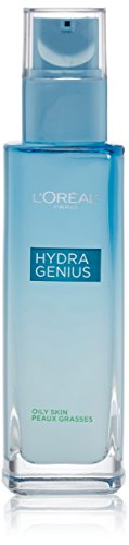 L'Oreal Paris Skincare Hydra Genius Daily Liquid Care Oil-Free Face Moisturizer for Normal to Oily Skin, Hyaluronic Acid Moisturizer for Face with Aloe Water and Hyaluronic Acid, 3.04 fl. oz.