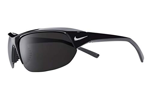 Nike Men's Skylon Ace Sunglasses, Black Frame/Polarized Grey Lens EV0527 010 Made in Italy