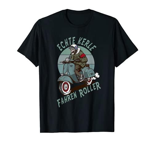 Echte Kerle fahren Roller. Für harte Männer & Zweitakt Fans T-Shirt