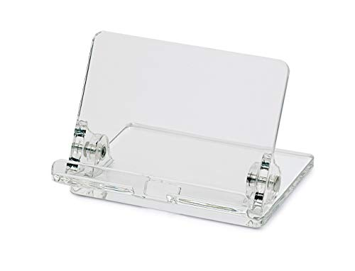 Preisvergleich Produktbild MAUL Handyständer Tisch,  Acryl,  Stufenlose Neigung,  Mit praktischer Kabelaussparung,  100 x 105 x 75 mm,  Transparent,  1957505,  1 Stück