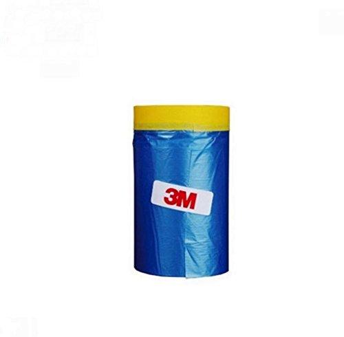 3M Automotive Best Masking Tape Painting, Tape'n Drape Pre-Taped Masking Film 65 feet x 59.1 In
