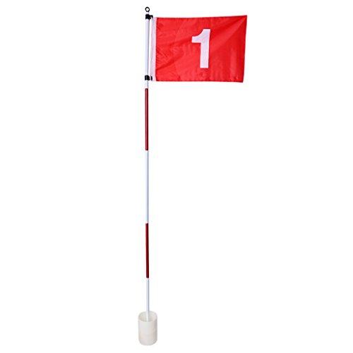 perfeclan Golf Fahne mit Golfloch Fahnenstange mit Putting Cup