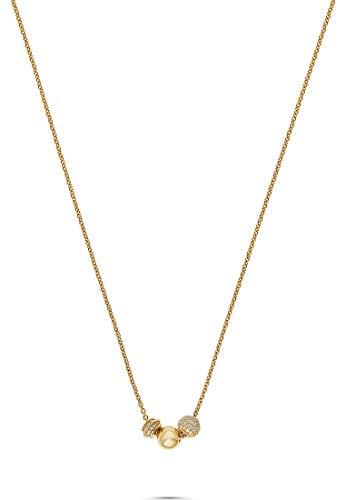 JETTE Silver Damen-Kette Cuddle 925er Silber 89 Zirkonia One Size Gelbgold 32010638