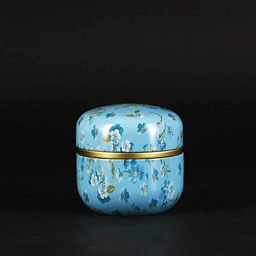 Contenedores de almacenamiento de té mini latas de té, café y caramelos, caja redonda de metal, organizador de recuerdos de boda, estilo japonés, disponible en una amplia gama de colores
