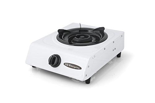 Orbegozo FO 1600 - Hornillo a gas, gas butano o propano, encendido piezoeléctrico, quemador de triple corona, uso exterior, pies antideslizantes