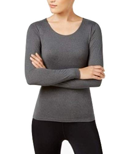 32 DEGREES Cozy Heat Long-Sleeve Top Heather Charcoal Size Large…