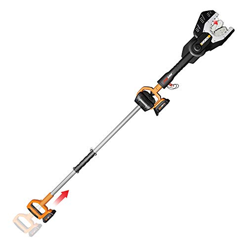 WORX WG321 20V PowerShare Cordless Electric Chainsaw with Extension Pole
