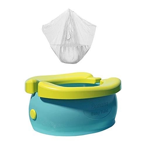 UBVV, vasino da viaggio, portatile, pieghevole, riutilizzabile, a banana, da viaggio, con 20 vasini usa e getta, Verde