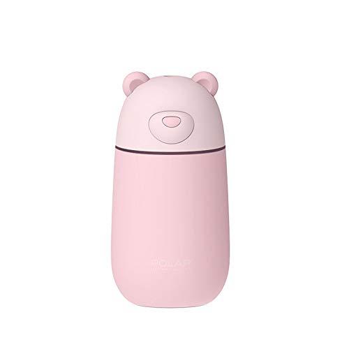 Smotly Luchtbevochtiger, luchtfilter, 4-in-1 multifunctionele tafellampventilator met ijsbeer diffuser voor thuis en kamerfontein, geurolie