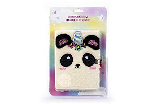 Tri-Coastal Design - Notizbuch mit Schloss und festem Einband aus Kunsthaar (Happy Panda)