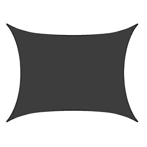 QETUOA Wasserdichtes Sonnensegel Im Innenhofgarten, Rechteckige Markise Aus Polyester Mit Zubehör, Wasserdichtes, UV-beständiges Und Anti-Aging-Verdeck (3X4m,Schwarz)
