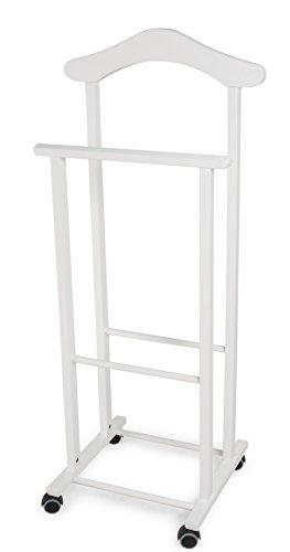 Arredamenti italia 102 ATRI Indossatore da camera, Bianco in faggio, 46 x 37 x 105 cm