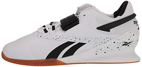Reebok mens Legacy Lifter II, Black/White, 13 M US