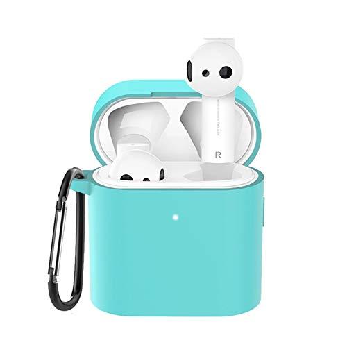 HUIJUNWENTI para MI Air 2S / 2 TPU Funda Protectora de la Cubierta para Xiaomi MI Airdots Pro 2 Funda inalámbrica Bluetooth Auricular de protección contra Carcasas (Color : Light Green)