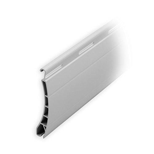 DIWARO Kunststoff Rolladen Ersatzlamelle Profil Pico, Deckbreite 37mm Nenndicke 8mm, Fixlänge 1300 mm in der Farbe Grau (Profil Pico | Farbe Grau | Länge 1300mm)