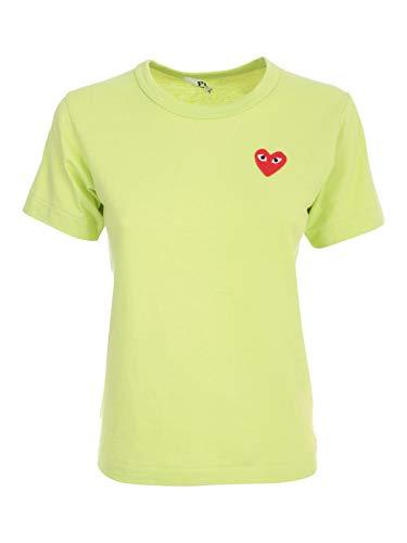 Comme des Garçons Fashion Womens P1T271GREEN Groen T-shirt | Lente-Zomer 20