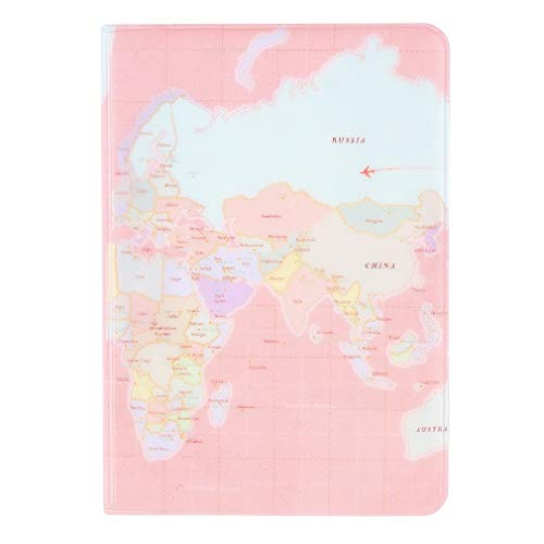 New Travel Passport Holder Protect Cover Case Card Ticket Container Pouch Pink map