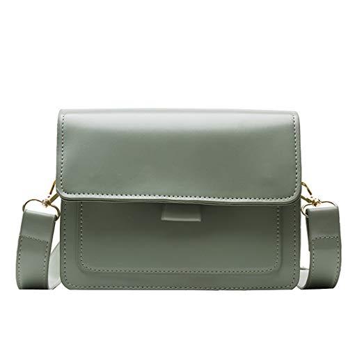 LQQSTORE Damen Ümhängetasche Schultertaschen Wild Messenger Tasche One-Schulter Klein Quadrat Tasche (Grün)