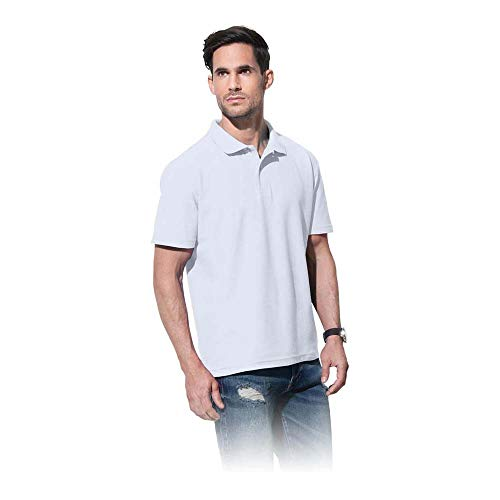 Stedman Apparel Polo Men/ST3000, Blanc, L Homme