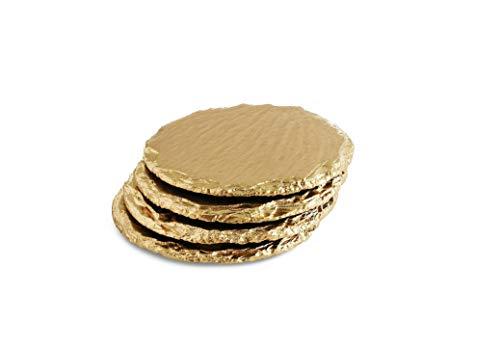 Renee Redesigns Handmade Gold Slate Stone Coasters