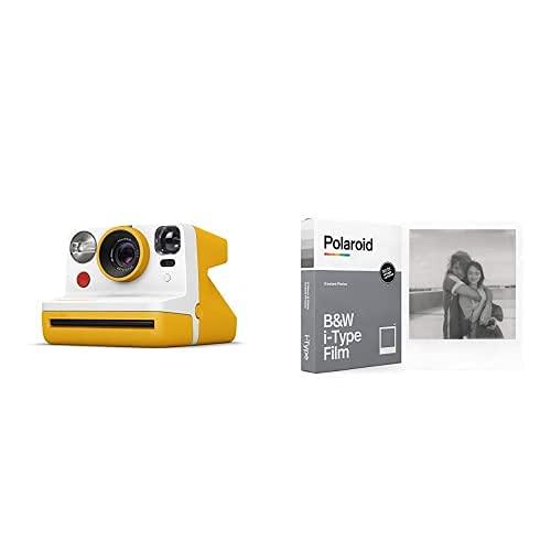 Polaroid - 9031 - Polaroid Now Fotocamera Istantanea i-Type, Giallo + 6001 - Pellicola Istantanea Nero e Bianco per i-Type