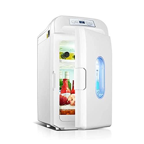 XTZJ Mini nevera, 35liter Refrigerador compacto de doble núcleo para bebidas, dormitorio, cuidado de la piel, oficina, dormitorio, coche, viajes, nevera pequeña portátil AC / DC con pantalla d