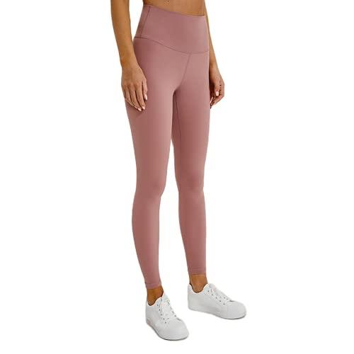 QTJY Soft Nude Yoga Fitness Pants Women's Sports Tights Stretch High Waist Tummy Hips Fitness Pants Sports Pants K L