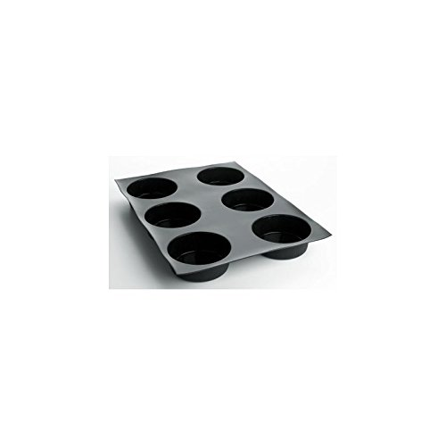 Matfer Bourgeat Silicone Flexipan 8 Oz. Quiches/Tart Mold, 12 Cups Black 336049