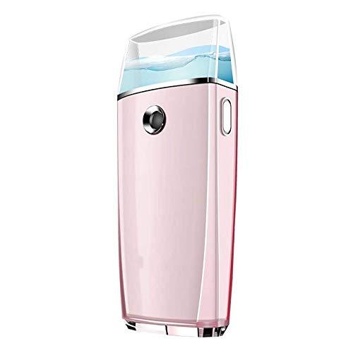 XYUN Face Steamer Nano Spray Moisturizer Draagbare Oplaadbare Mini Facial Humidifier Beauty Instrument USB Oplaadbare Power Bank, Facial Steamer roze
