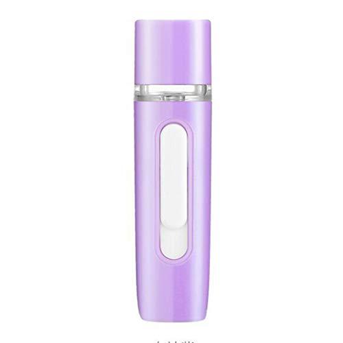 Facial Steamer, Instrument de nano hydratation rechargeable par pulvérisation à froid USB Humidificateur Instrument de poche portable (Couleur : Purpl