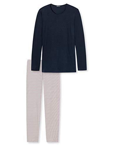 Schiesser Damen Anzug lang Zweiteiliger Schlafanzug, Blau (Blau 800), 38
