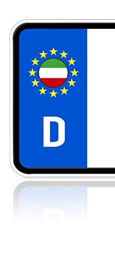Ritter Mediendesign 2 Stück Italien Aufkleber Nationalflagge Sticker Plakette Nummernschild Waschstrassenfest